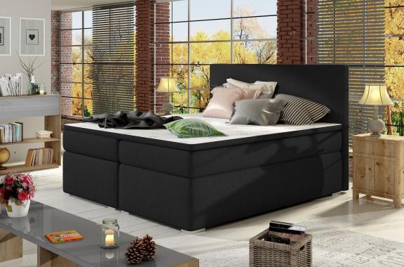 DIVALO boxspring posteľ s úložným priestorom | 3 rozmery