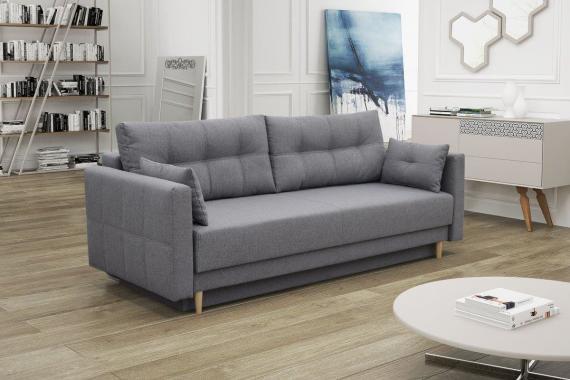MILA rozkládací pohovka s úložným prostorem ve skandinávském stylu