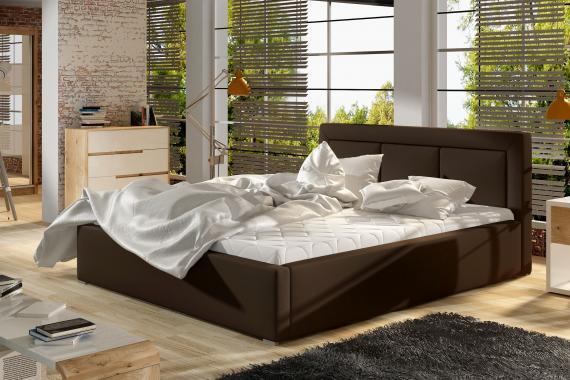 MARCELO čalouněná postel s dřevěným roštem | 4 ROZMĚRY