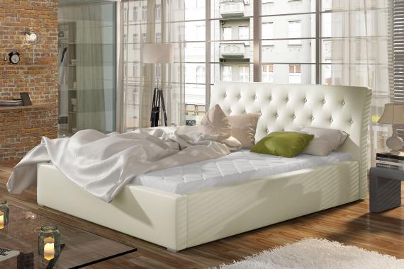 BOLOGNA čalouněná postel s dřevěným roštem | 4 ROZMĚRY
