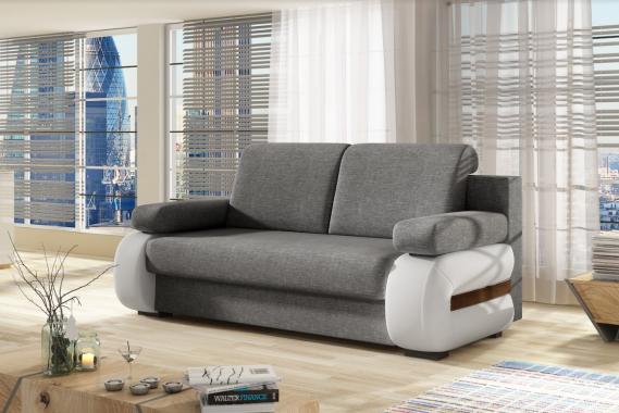 LINDA 2,5 Sitzer Designsofa mit Schlaffunktion und Stauraum