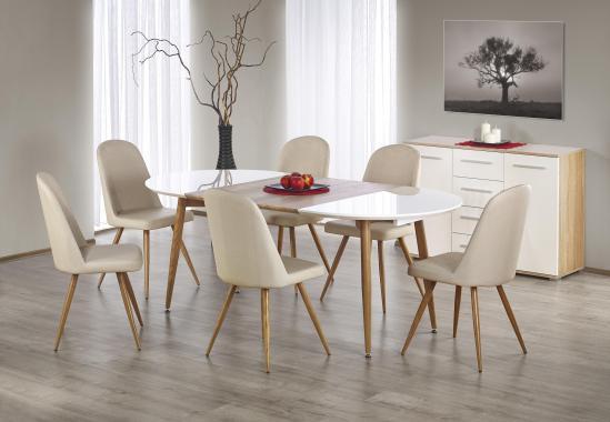 EDGAR II moderný rozkladací jedálenský stôl, dub medový