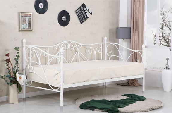 SUMATRA jednolôžková kovová posteľ 90x200 s roštom