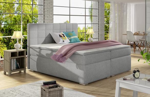 ALICIE 200x200 boxspring postel s úložným prostorem