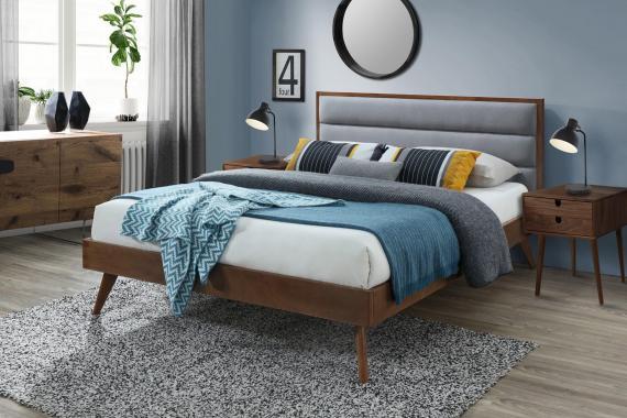 ORLANDO moderní čalouněná postel 160x200 s roštem