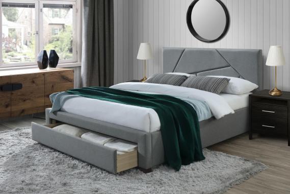 VALERY moderní čalouněná postel 160x200 s roštem