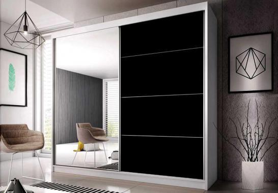 MULTI 31 šatní skříň se zrcadlem a posuvnými dveřmi | 3 rozměry