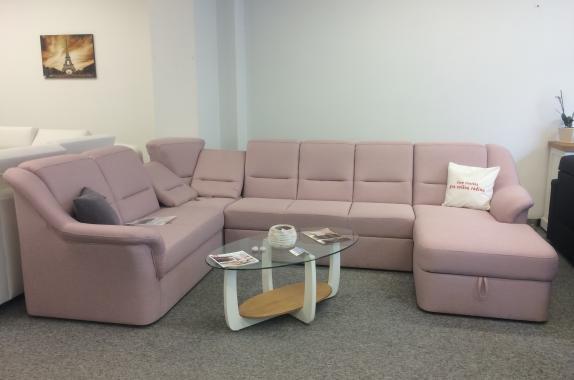 LISABON U ružová sedacia súprava v tvare U | VÝPREDAJ