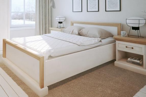 QUEEN manželská postel 160x200 v provensálském stylu