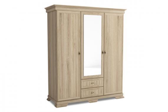 KORA KS2 šatní skříň se zrcadlem v provensálském stylu | 3 DEKORY