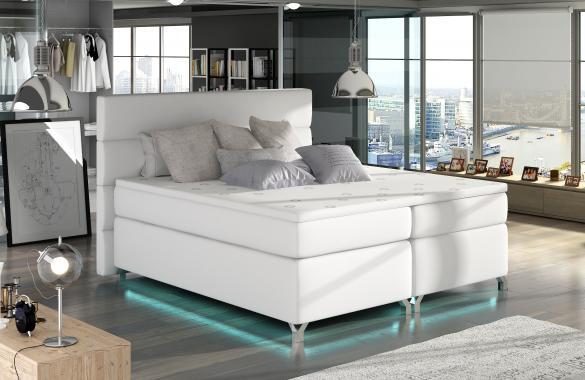 CAVALLI 160x200cm kontinentálna posteľ boxspring s LED osvetlením