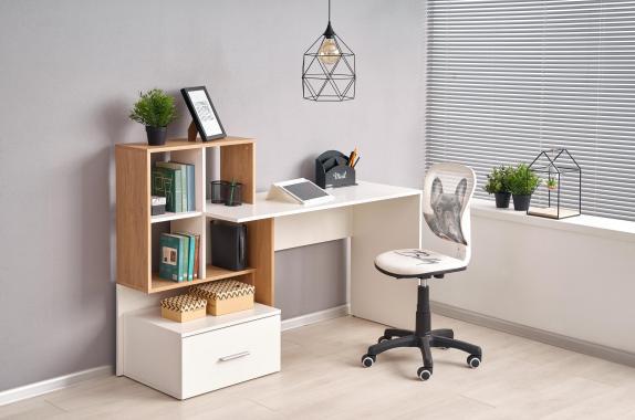 GROSSO písací stôl s policami a zásuvkou