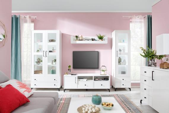 SNOW bílá sestava do obývacího pokoje