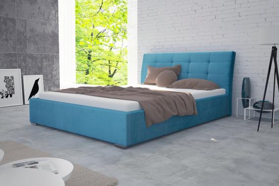 MALAWI manželská postel 160x200 s roštem a úložným prostorem