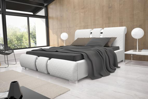 LYRA manželská postel 160x200 s roštem a úložným prostorem