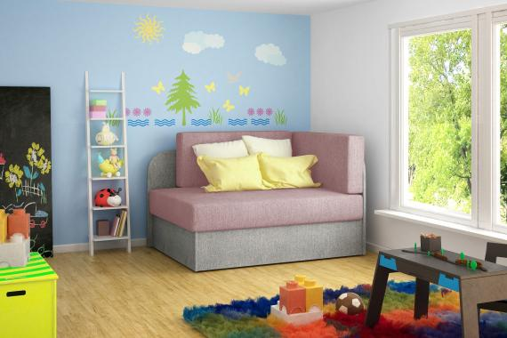 TIAMA dětská rozkládací pohovka s úložným prostorem