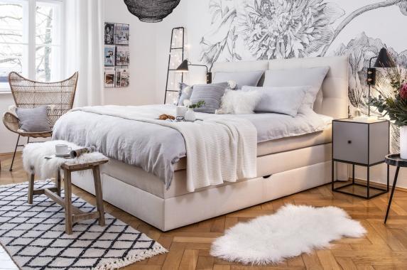 GABANA boxspring posteľ 140x200 s úložným priestorom