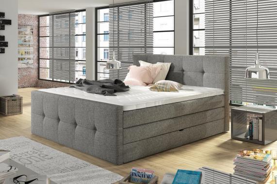 LAKE boxspring posteľ 140x200 s úložným priestorom