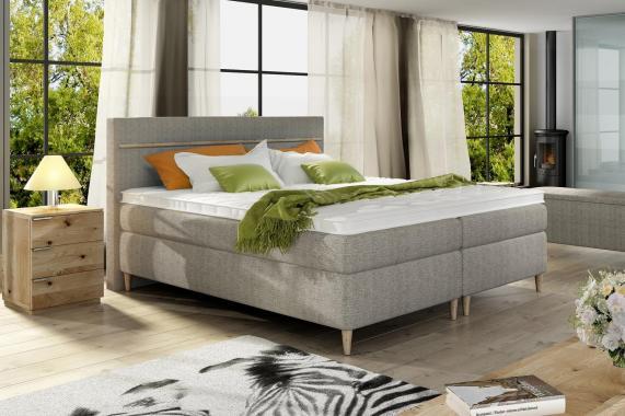 LUXY boxspring posteľ 140x200 v škandinávskom štýle