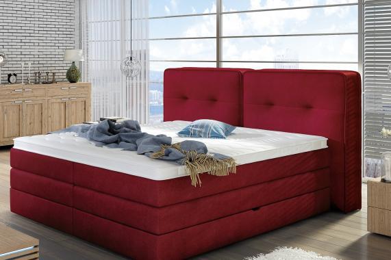 THEA boxspring posteľ 140x200 s úložným priestorom