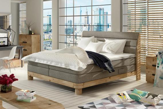 INNA boxspring posteľ 140X200 v drevenom ráme