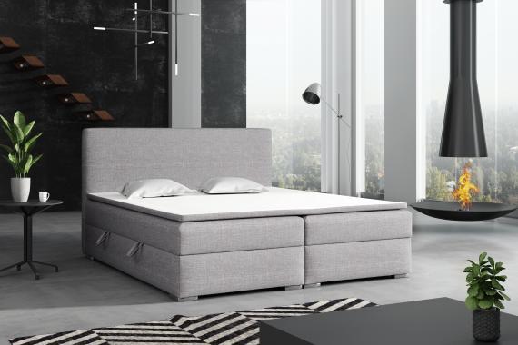 DETROIT kontinentálna posteľ boxspring 180x200 s úložným priestorom