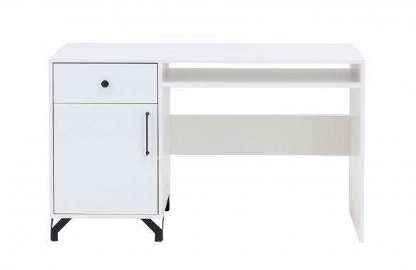 SNOW SN9 biely písací stôl so skrinkou a zásuvkou