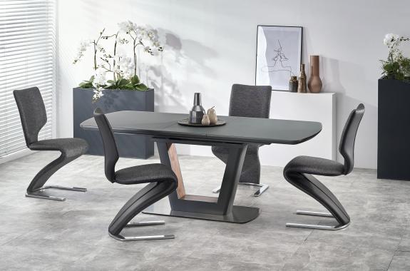 BILOTTI 2 moderný rozkladací jedálenský stôl 160-200 cm, antracitový