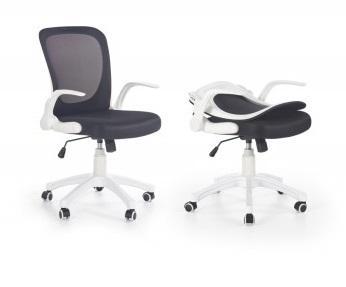 PASSO sklápěcí kancelářská židle, černobílá