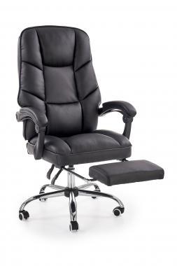 ALVIN moderní kancelářské křeslo s podnožkou, černé