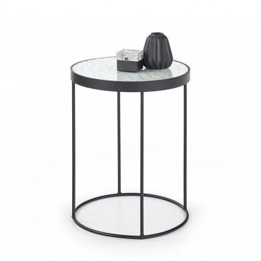 NATURO 2 kulatý konferenční stolek v industriálním stylu