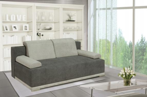 PERRY 3-Sitzer Sofa mit Schlaffunktion, Stauraum und Holzfüßen