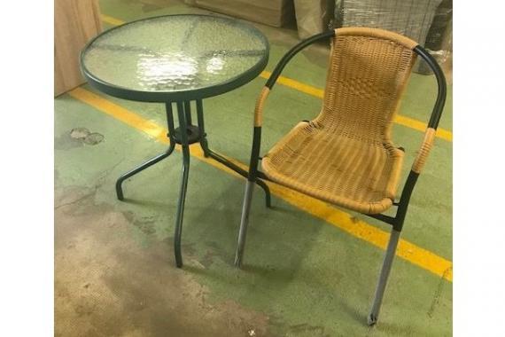 GRAND záhradný stolík + ratanová stolička | VÝPREDAJ