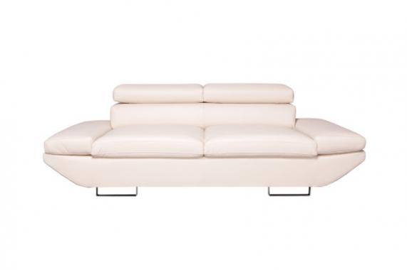 LUXOR Designsitzgarnitur: 2-Sitzer + 3-Sitzer, Sofas mit verstellbaren Kopfstützen