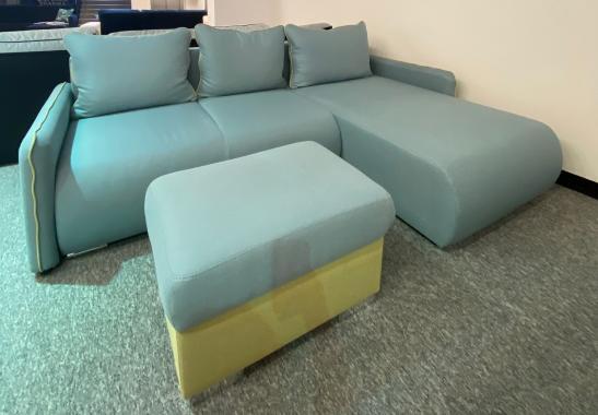 Pezzo rozkladacia sedacia súprava s taburetom, modrozelená | VÝPREDAJ