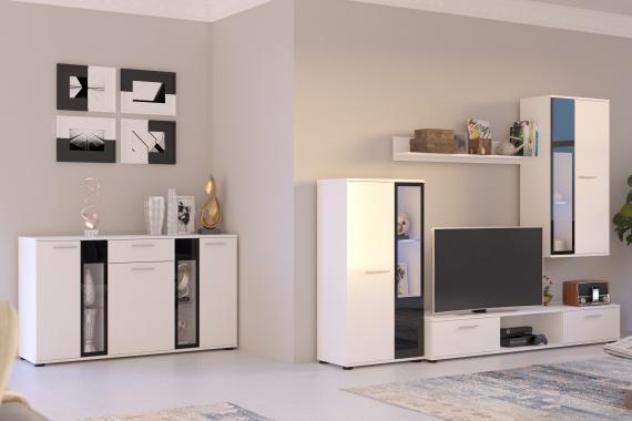 CAROL obývací stěna, bílá