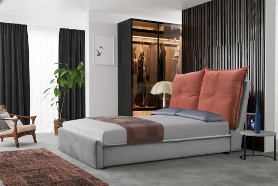 MATTEO manželská postel 160x200 s úložným prostorem