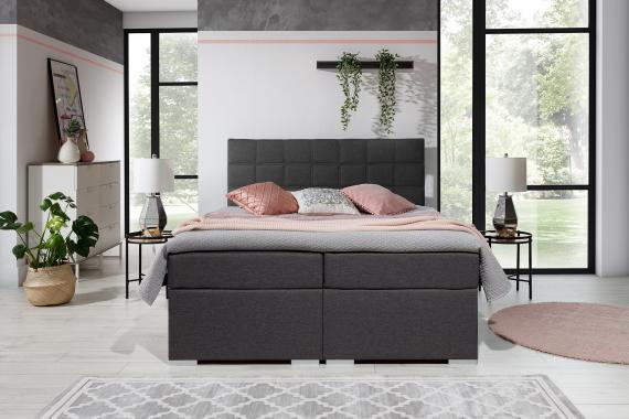 ALICIE 180x200 boxspring postel s úložným prostorem