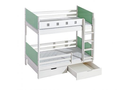 NORBERT 2 detská poschodová posteľ 80x190 cm z masívneho dreva