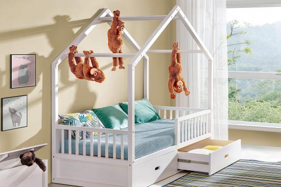 SIMBA dětská postel 90x200 ve tvaru domečku