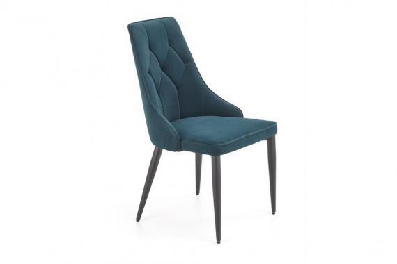 K-365 elegantná čalúnená stolička na kovových nožičkách