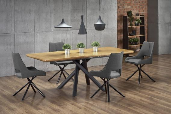 DERRICK moderní rozkládací jídelní stůl 160-200 cm