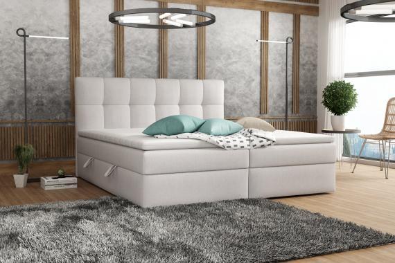 TERMI kontinentální postel boxspring 140x200 s úložným prostorem