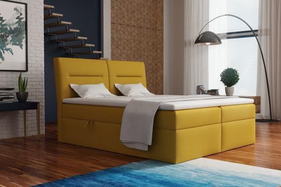 CASINO kontinentální postel boxspring 140x200 s úložným prostorem