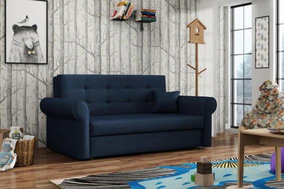 FLAVIE III rozkládací pohovka s úložným prostorem, modrá