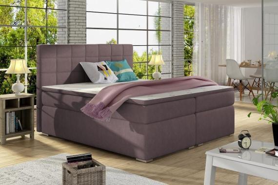 ALICIE 180x200 boxspring posteľ s úložným priestorom, fialová