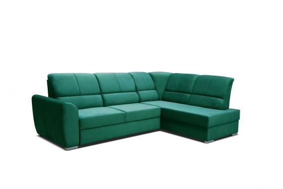 EDA rozkládací sedací souprava s regulovatelnou opěrkou, zelená