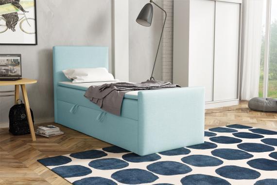 BOHO kontinentálna posteľ boxspring 90x200 s úložným priestorom