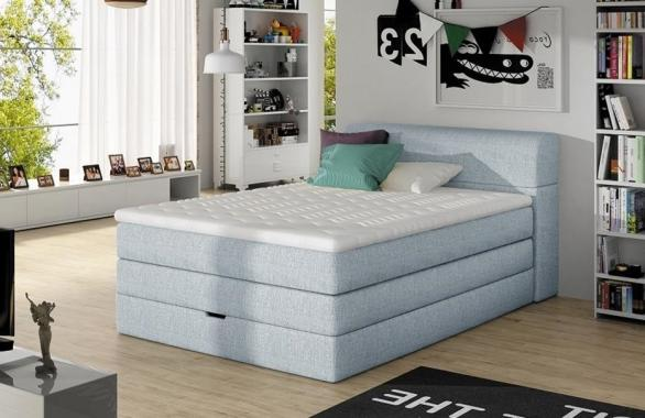 MARINE boxspring posteľ 140x200 s úložným priestorom