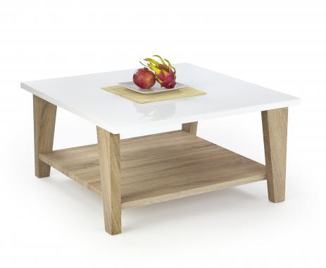 KIANA čtvercový konferenční stolek s dekorem dub sonoma | VÝPRODEJ